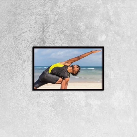 Printy6 Wall art 50cm×30cm Single Panel Canvas Print Wall Art - Yoga