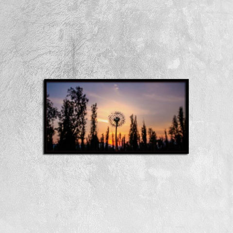 Printy6 Wall art 60cm×30cm Single Panel Canvas Print Wall Art - Dandelion Sunset