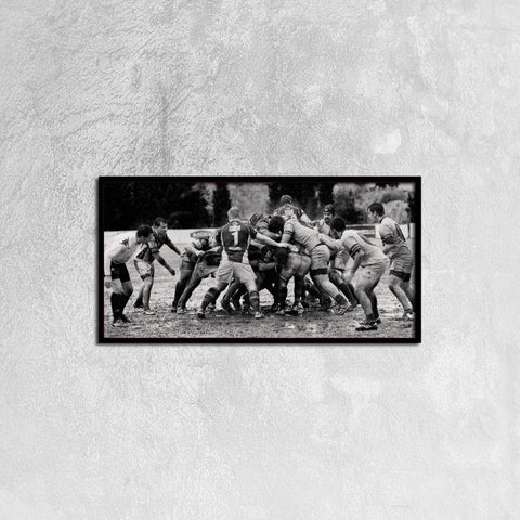 Printy6 Wall art 60cm×30cm Single Panel Canvas Print Wall Art - Muddy Football