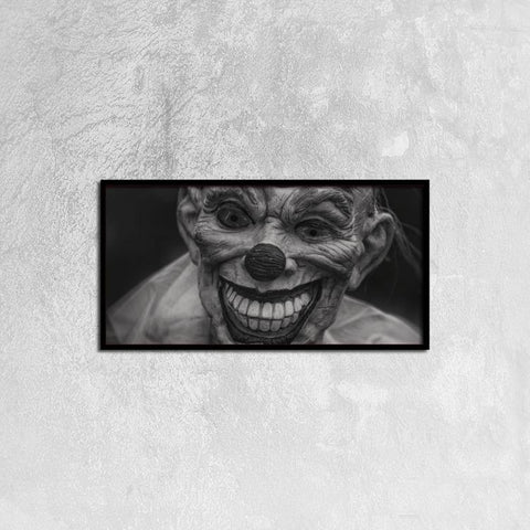 Printy6 Wall art 60cm×30cm Single Panel Canvas Print Wall Art - Scary Clown