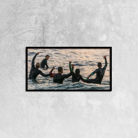 Printy6 Wall art 60cm×30cm Single Panel Canvas Print Wall Art - Wet Suits