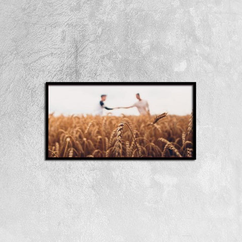 Printy6 Wall art 60cm×30cm Single Panel Canvas Print Wall Art - Wheat Field