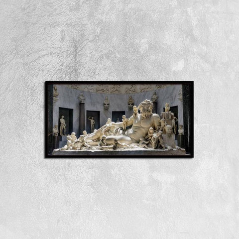 Printy6 Wall art 60cm×30cm Single Panel Canvas Print Wall Art - Zeus