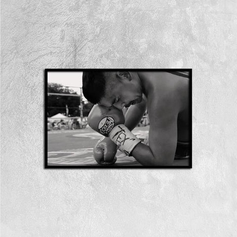 Printy6 Wall art 60cm×40cm Single Panel Canvas Print Wall Art - Boxing