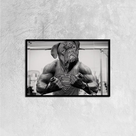 Single Panel Canvas Print Wall Art - Bulldog - Wall art - Maletropolis