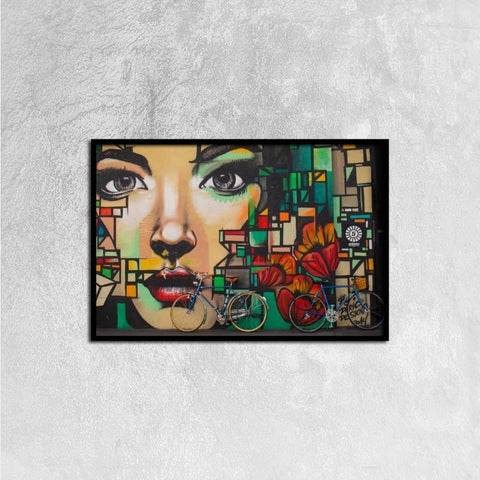 Printy6 Wall art 60cm×40cm Single Panel Canvas Print Wall Art - Face Mural