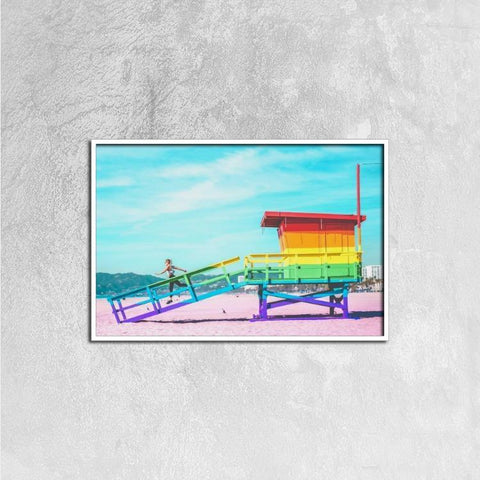 Printy6 Wall art 60cm×40cm Single Panel Canvas Print Wall Art - Lifeguard