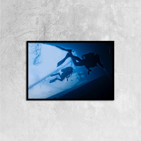 Printy6 Wall art 60cm×40cm Single Panel Canvas Print Wall Art - Scuba
