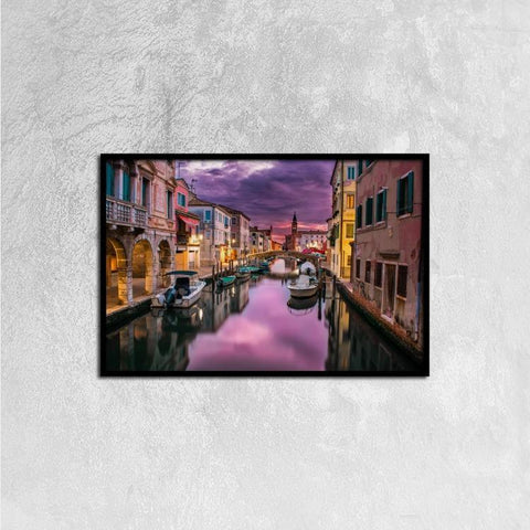 Printy6 Wall art 60cm×40cm Single Panel Canvas Print Wall Art - Venice