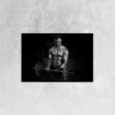 Printy6 Wall art 60cm×40cm Single Panel Canvas Print Wall Art - Weightlifter