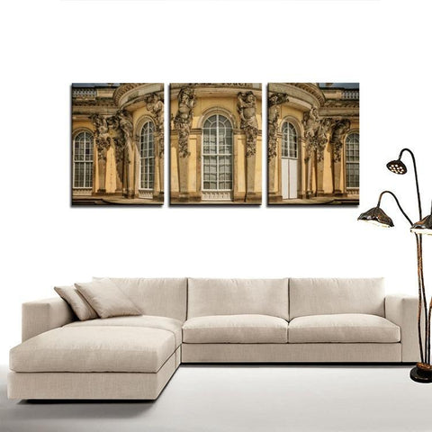 Printy6 Wall art Framed(ready to hang) / Medium 3 Panel Canvas Print Wall Art  - Bode Museum - Berlin, Germany