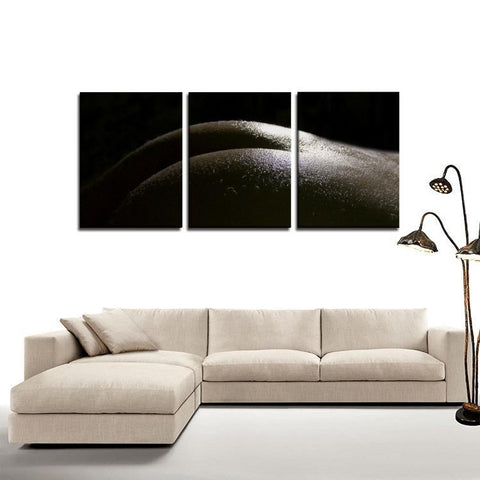Printy6 Wall art Framed(ready to hang) / Medium 3 Panel Canvas Print Wall Art - Booty