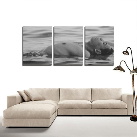 Printy6 Wall art Framed(ready to hang) / Medium 3 Panel Canvas Print Wall Art - Float