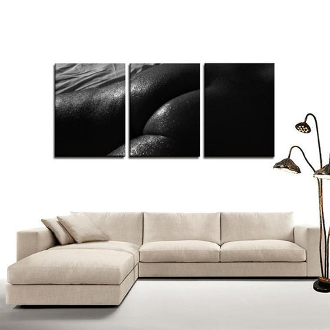 Printy6 Wall art Framed(ready to hang) / Medium 3 Panel Canvas Print Wall Art - Hot Sheets