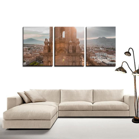 Printy6 Wall art Framed(ready to hang) / Medium 3 Panel Canvas Print Wall Art  - Mexico