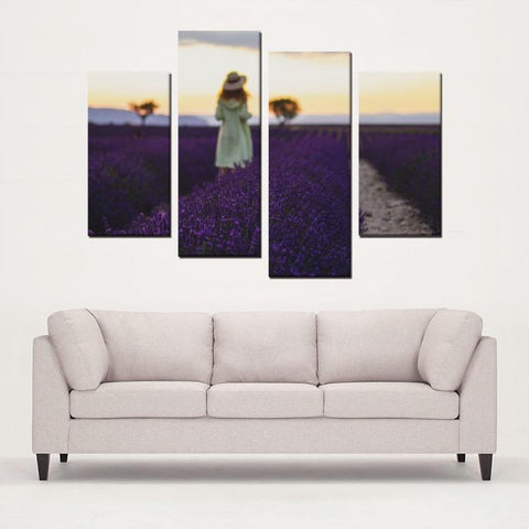 Printy6 Wall art Framed(ready to hang) / Medium 4 Panel Canvas Print Wall Art  - Aix En Provence, France