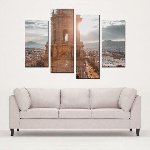 Printy6 Wall art Framed(ready to hang) / Medium 4 Panel Canvas Print Wall Art - Mexico