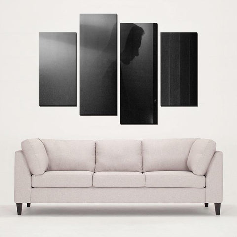 Printy6 Wall art Framed(ready to hang) / Medium 4 Panel Canvas Print Wall Art - The Fog