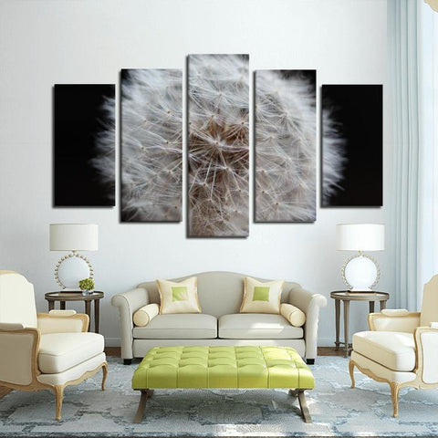 Printy6 Wall art Framed(ready to hang) / Medium 5 Panel Canvas Print Wall Art - Dandelion