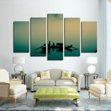 5 Panel Canvas Print Wall Art - Fishermen - Wall art - Maletropolis