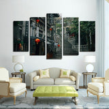 Printy6 Wall art Framed(ready to hang) / Medium 5 Panel Canvas Print Wall Art - Hong Kong
