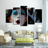 Printy6 Wall art Framed(ready to hang) / Medium 5 Panel Canvas Print Wall Art - Masquerade