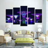Printy6 Wall art Framed(ready to hang) / Medium 5 Panel Canvas Print Wall Art - Singapore