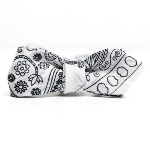 QP Collections Men - Accessories - Bow Ties White Bandana Bowtie