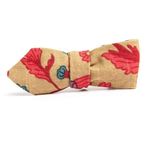 QP Collections Men - Accessories - Ties Gold Bramble Bowtie