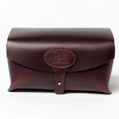 QP Collections Men - Accessories - Wallets & Small Goods Men's Leather Toiletry Case - Dopp Kit -Brown