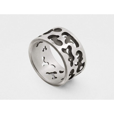 Snake Bones Men - Jewelry - Rings 8 Sterling Silver Camouflage Ring