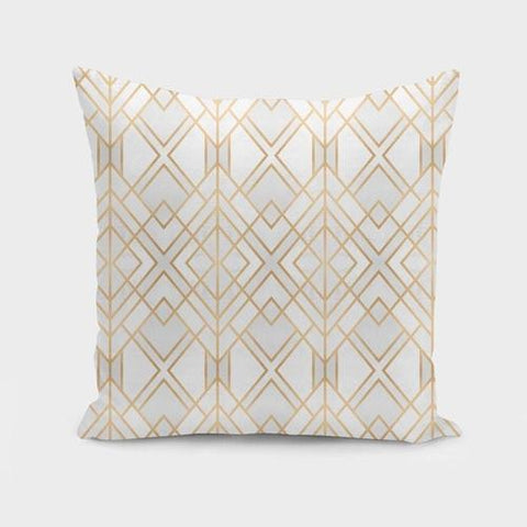 Spocket Home & Garden Golden Geo  Cushion/Pillow