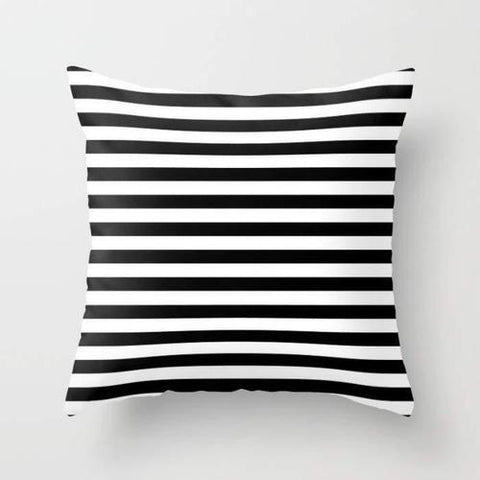Spocket Home & Garden Modern Black White Stripes Monochrome Pattern
