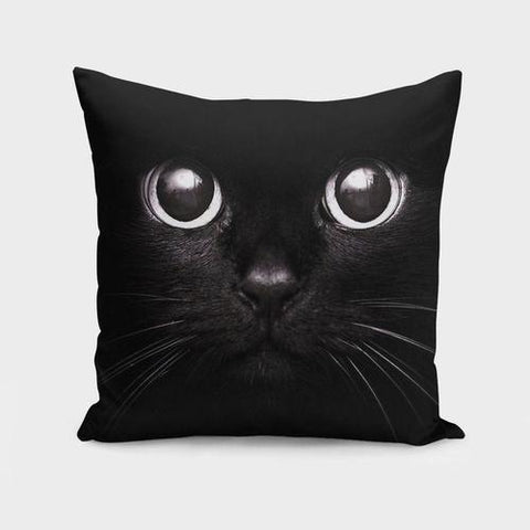 Spocket Home & Garden The Black Cat   Cushion/Pillow