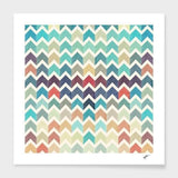 Spocket Home & Garden Watercolor Chevron Pattern II Cushion/Pillow