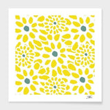 Spocket Home & Garden Yellow Flowers Cushion/Pillow