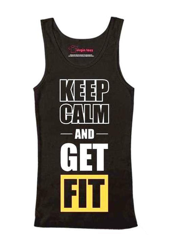 Keep Calm And Get Fit Tank Top - Men's Clothing - Maletropolis