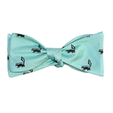 SummerTies Men - Accessories - Bow Ties Skunk Bow Tie - Sea Green, Woven Silk