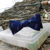 SummerTies Men - Accessories - Bow Ties Toucan Bow Tie - Navy, Woven Silk
