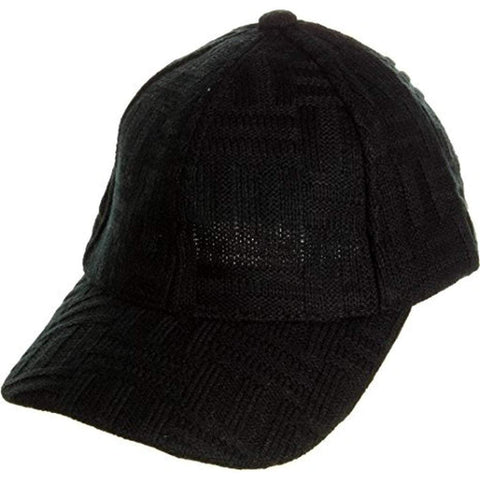 Sun Ben Inc. Men - Accessories - Hats Black Basketweave Knit Baseball Cap