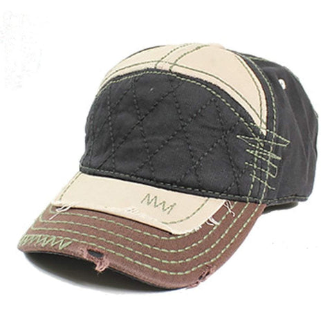 Sun Ben Inc. Men - Accessories - Hats Black Distressed Baseball Cap