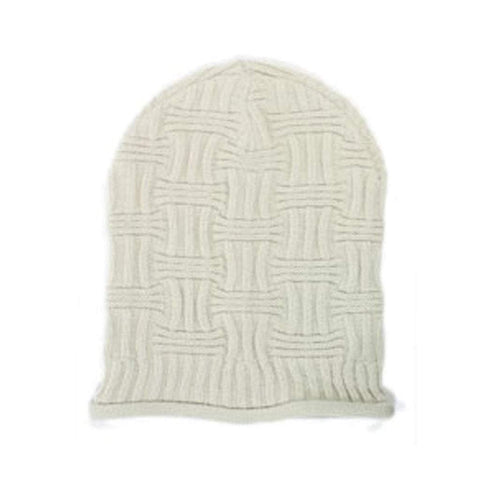 Sun Ben Inc. Men - Accessories - Hats Default Title Basket Weave Slouchy Beanie Hat - Ivory
