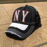 Sun Ben Inc. Men - Accessories - Hats NY Distressed Baseball Cap