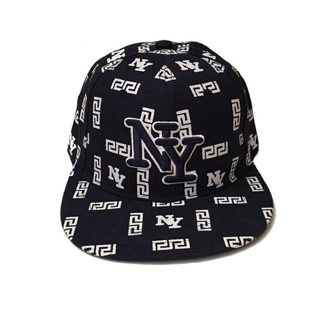 Sun Ben Inc. Men - Accessories - Hats NY Embroidered Printed Baseball Cap