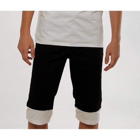 Uwi Twins Men - Apparel - Shorts - Casual black / M Two-Tone Long Shorts