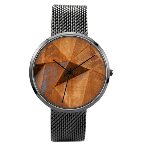 Watch Custom Printed Rusty Prism Waterproof Quartz Watch