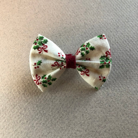2 inch vintage poinsettia bow