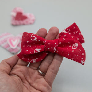 Vintage red heart Elloise Bow - LOA