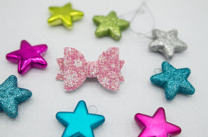 Pink snowflake Ember bow 2.0bow - O Holy Night