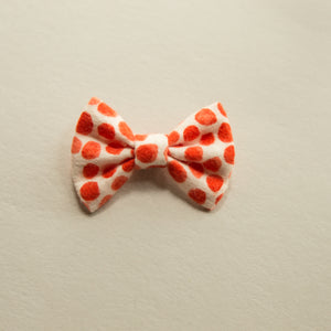 Flannel orange dot 2 inch - Fall - vintage